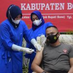 Kompol. Nur Ichsan S. Sos Terima Vaksin Tahap II, Wujud Bhakti Brimob Untuk Negeri