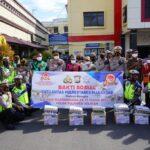 Jelang Hari Ulang Tahun Bhayangkara Ke 75, Satlantas Polrestabes Makassar Gelar Bhakti Sosial