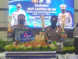 Kasatlantas Polres Maros AKP. Dharmawaty SE, MM Sabet Tiga Piala Di HUT Lalulintas Ke 66