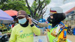 Ops Patuh 2021, AKP. Dharmawaty SE, MM Sasar Pengendara Bagikan Sembako Dan Vitamin Di Ruas Jalan Poros Maros