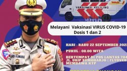 AKBP. Andi Kumara S. Ik, Ajak Sukseskan Vaksinasi Serentak Di Mobil Vaksin Polrestabes Makassar, Keren Dan Ada Ruang Khusus Hijabers