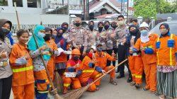 Ditlantas Polda Sulsel Sapa Pasukan Orange Hijau Sepanjang Losari Dan Mappanyukki